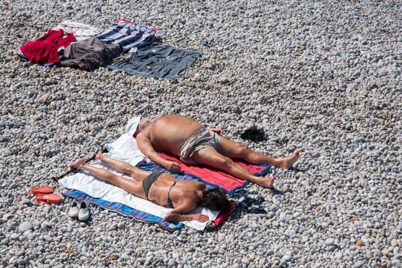 Vacances En Amoureux Au Bord De Plage à Yport, En Normandie