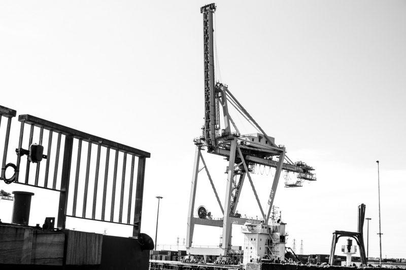 Paysage Urbain Des Docks Du Havre