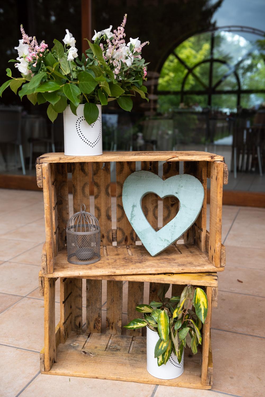 Décoration florale lieu de réception mariage - Photographes mariage Normandie, Rouen - M. et Mme Shoes
